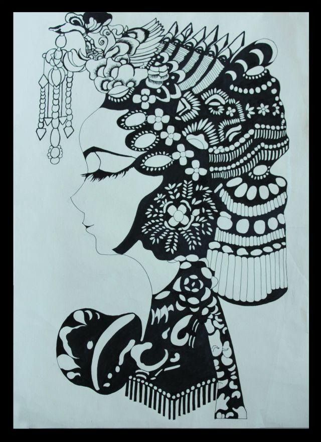 黑白画 手绘 创意